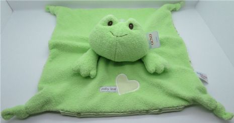 Baby Gund FROG  Snuggle Comfort Blankie - Suitable From Birth - Satineesnug NEW